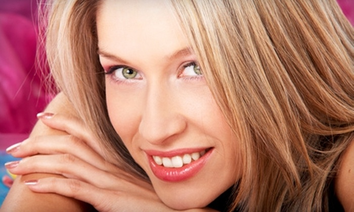 Sara Klein Hair Studio - Lincoln: $35 for Full Highlights with a Deep Condition Treatment and Paraffin Hand Treatment ($75 Value) or $9 for a Men's Haircut ($18 Value) at Sara Klein Hair Studio Located Within Utopia Salon and Private Suites