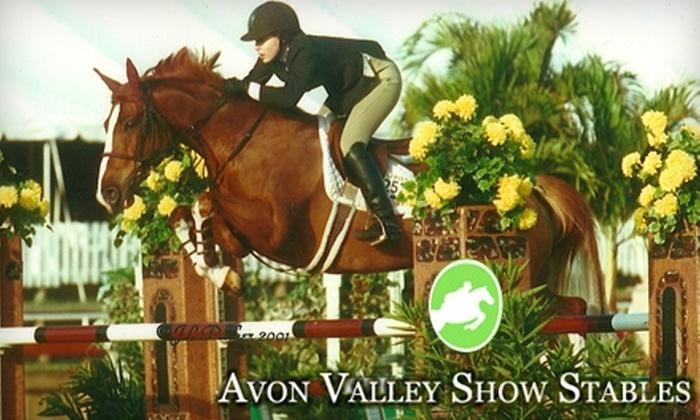 Avon Valley Show Stables - Avon: $65 for Three Horseback-Riding Lessons at Avon Valley Show Stables