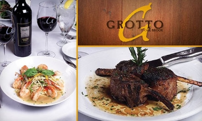 Grotto - Chicago: $25 for $55 Worth of Steaks, Italian Fare, and Drinks at Grotto Oak Brook