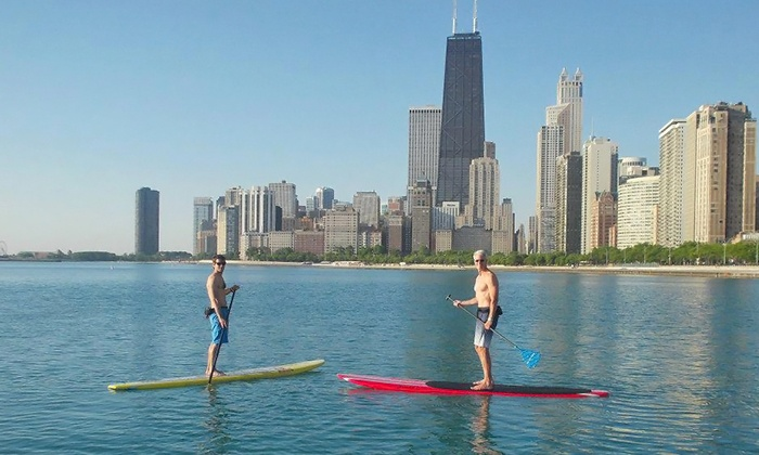 Chicago SUP - Multiple Locations: 90-Minute Standup-Paddleboard Package for One or Two from Chicago SUP (26% Off)