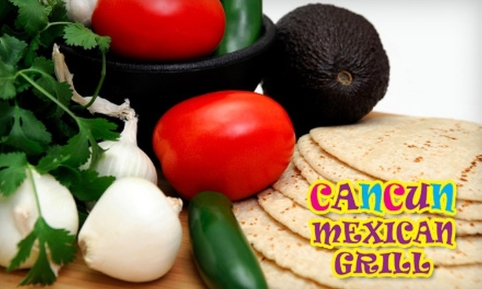 Cancun Mexican Grill - North Fort Lauderdale: $10 for $20 Worth of Margaritas and Mexican Fare at Cancun Mexican Grill