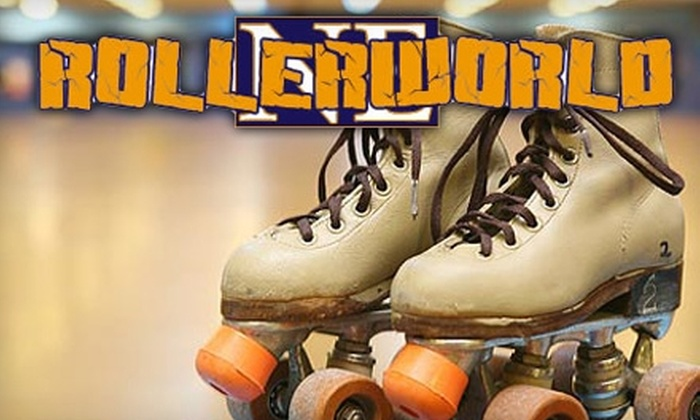 RollerWorld NE - Haltom City: $10 for Admission and Skate Rental for Two People, Plus Two Hot Dogs and Two Sodas, at RollerWorld NE ($26 Value)