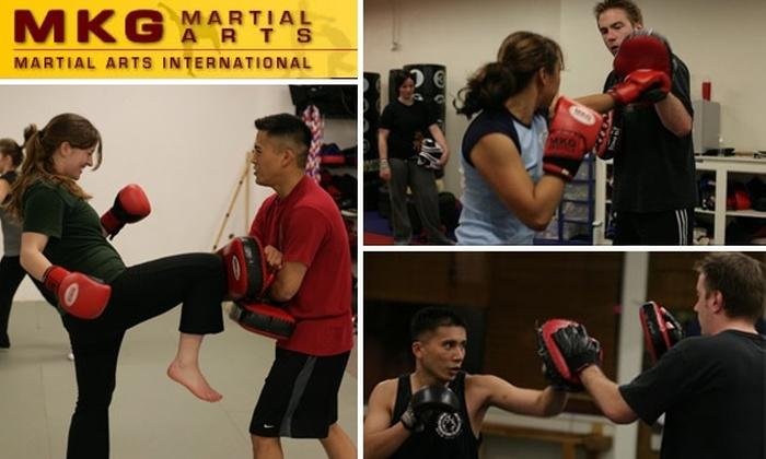 MKG Martial Arts International - Maple Leaf: Kickbox Like Bruce Lee with 1 Month Unlimited Classes at MKG Martial Arts International
