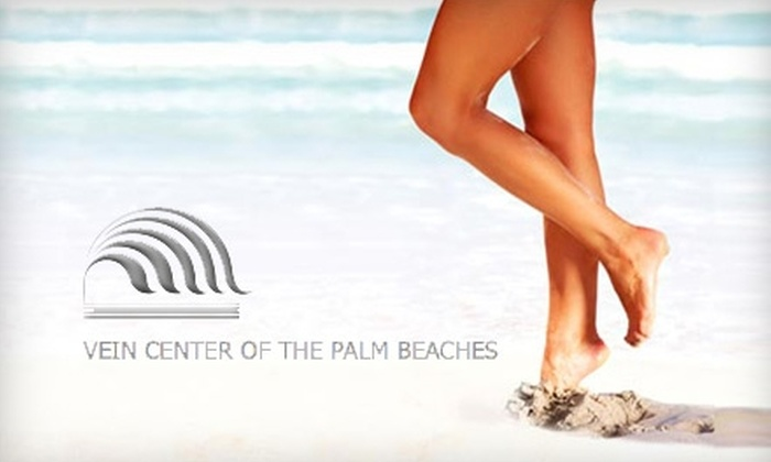 The Vein Center of the Palm Beaches - Royal Palm Beach-West Jupiter: $99 for Two Spider-Vein Treatments ($730 Value) or $149 for Up to Four Laser Hair-Removal Treatments ($600 Value) at The Vein Center of the Palm Beaches
