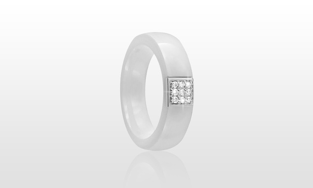 Bague luxury cristal en ceramique veritable