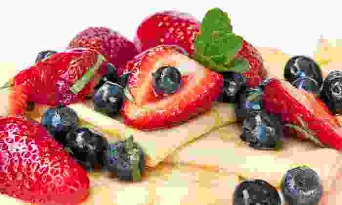 Vive La Crepe - Multiple Locations: $13 for Savory Crepe and Sweet Crepe with Up to Four Toppings at Vive La Crepe ($25.50 Value)