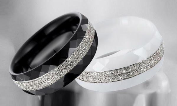 Bague Luxury Cristal en céramique véritable et ornée de cristaux Swarovski  Elements dès 16,90€ (jusqu'à -83%)