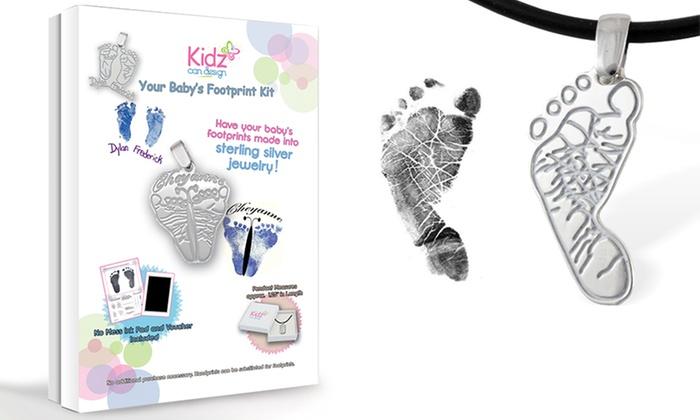 Kidz Can Design: Custom Baby Footprint Pendant Kit from KidzCanDesign.com
