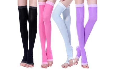 Thigh-High Compression and Detox Socks