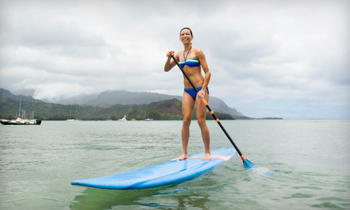 Epic Surf Co - Downtown: Paddleboard Rental for One or Two or a Lesson for Two with Optional Tour from Epic Surf Co (Up to 57% Off)