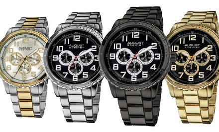 August Steiner Men's Multifunction Bracelet Watch