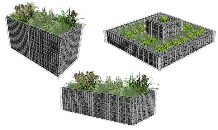parterre et jardini re en gabion groupon shopping. Black Bedroom Furniture Sets. Home Design Ideas