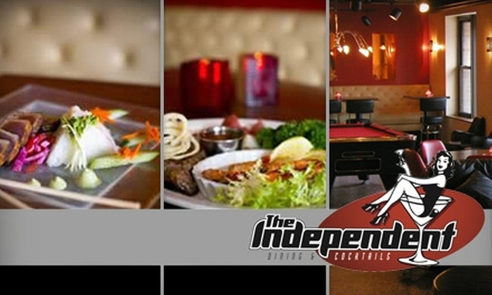 The Independent - Uptown: $15 for $30 Worth of Eclectic American Cuisine and Drinks at The Independent