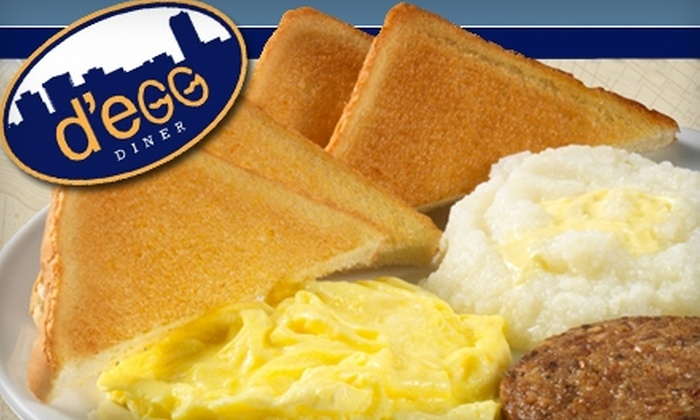 d'egg diner  - Hampton Roads: $6 for $12 Worth of All-Day Breakfast Fare and More at d'egg diner and d'egg west