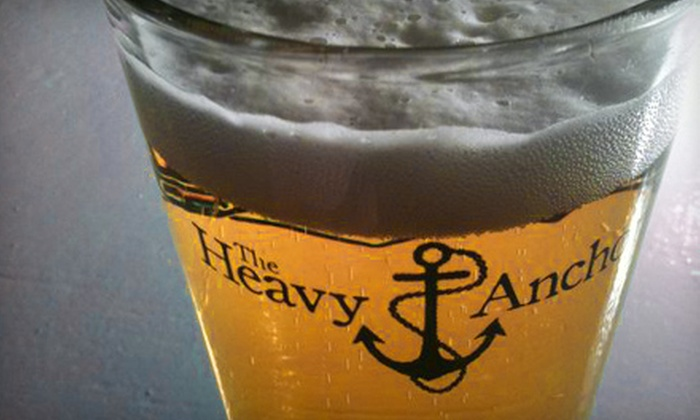 The Heavy Anchor - St Louis: $12 for Two Drinks with Pizza at The Heavy Anchor (Up to $22 Value)