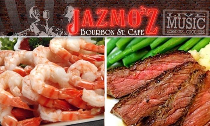 Bourbon Street Café - Downtown Oklahoma City: $20 for $40 Worth of New Orleans–Style Cuisine at Jazmo'z Bourbon Street Café