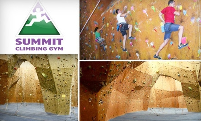 Summit Climbing Gym - Grapevine: $35 for Five-Visit Punch Card Pass (All Gear Included) at Summit Climbing Gym ($75 Value)