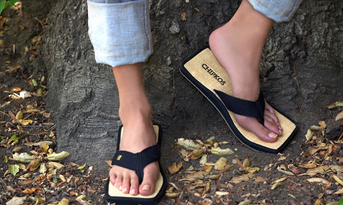 Chipkos: $24 for One Pair of Men's or Women's Chipkos Original Sandals in Black, White, or Red from Chipkos ($48 Value)