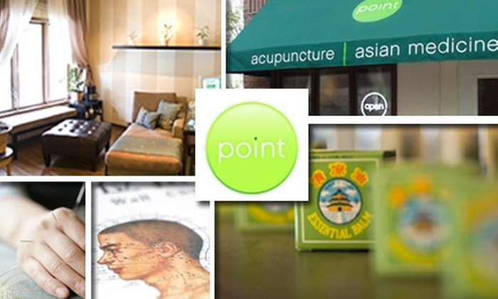 Point Acupuncture and Asian Medicine - Macalester - Groveland: $35 for Consultation and Session at Point Acupuncture and Asian Medicine ($70 Value)
