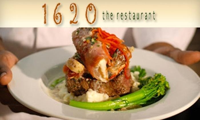 1620 Restaurant - Walnut Valley: $30 for $60 Worth of Elegant New American Fare at 1620 Restaurant