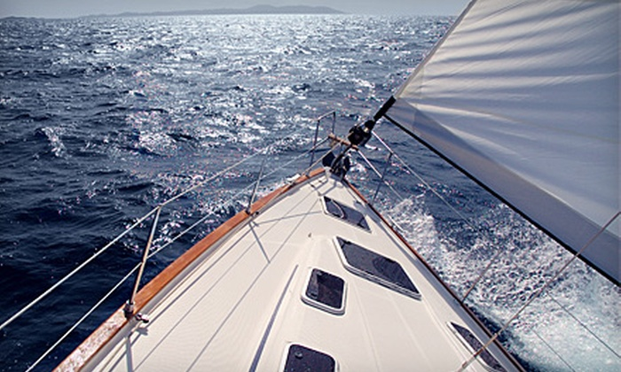 The Sailboat Club - Mandarin: Sailing Lesson for Two or Chartered Sunset Cruise for Four from The Sailboat Club