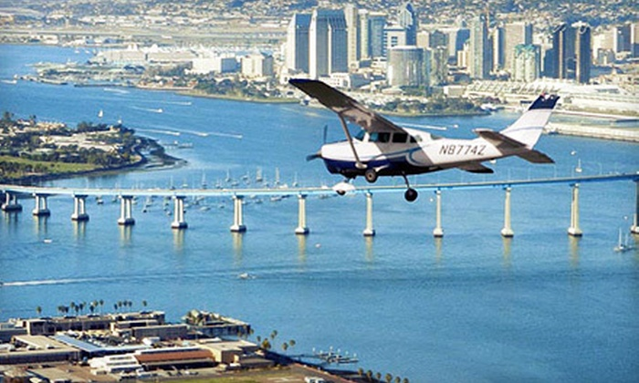 San Diego Sky Tours - Kearny Mesa: Downtown Fly-Around Tour of San Diego for One or Two from San Diego Sky Tours (Up to 58% Off)