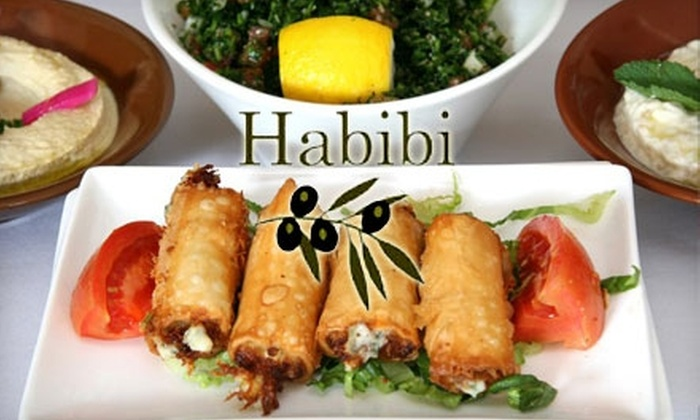 Habibi - Livengood Park At Vineland: $20 for $40 Worth of Fine Lebanese Cuisine and Wine at Habibi in Lake Buena Vista