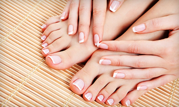 Emporium Hair Salon - Emporium Hair Salon: Shellac Manicure or One or Three Shellac Mani-Pedis at Emporium Hair Salon (Up to 61% Off)