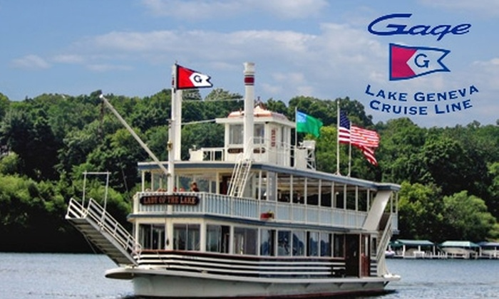 Lake Geneva Cruise Line - Milwaukee: $21 for Two Tickets for a Two-Hour Cocktail Cruise from Lake Geneva Cruise Line (Up to $52 Value)