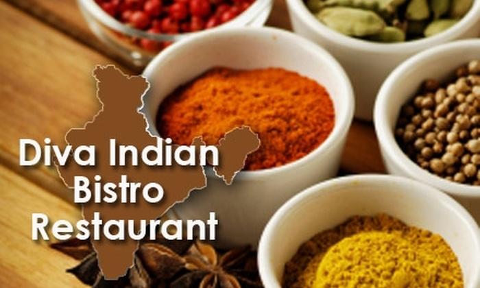 Diva Bistro - Davis Square: $15 for $35 Worth of Indian Cuisine at Diva Bistro in Somerville