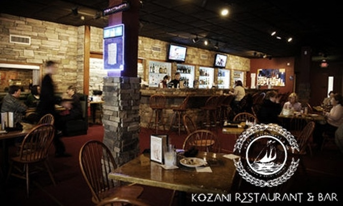 Kozani Restaurant & Bar - Greenville: $12 for $25 Worth of Mediterranean Fare and Drinks at Kozani Restaurant & Bar