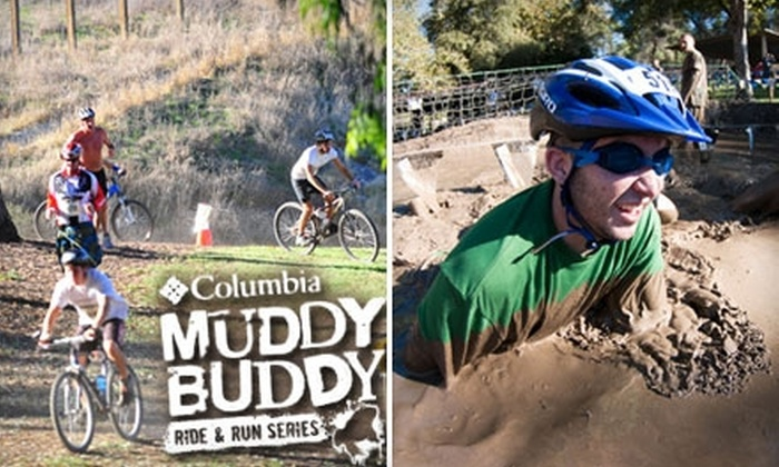 Columbia Muddy Buddy Ride and Run Race: $75 for Two-Person Registration for the Columbia Muddy Buddy Ride and Run Race on October 17 in Estacada ($167 Value)