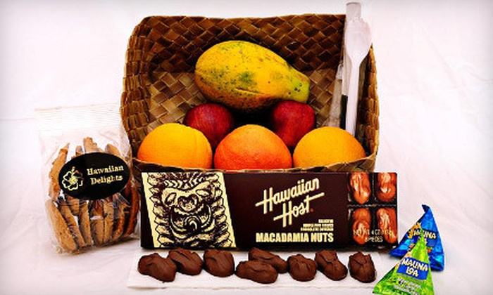 Daily Service Hawaii - Diamond Head - Kapahulu - St. Louis: Fruit and Snack Basket or $30 for $60 Worth of Gift Baskets from Daily Service Hawaii