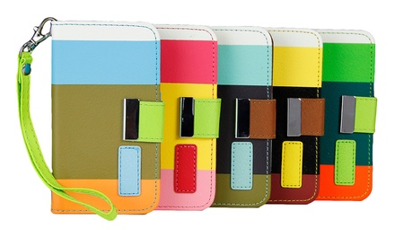 Tricolor Wallet Case for Apple iPhone 4/4s, 5c, 6, or Samsung Galaxy S5 from $5.99–$6.99