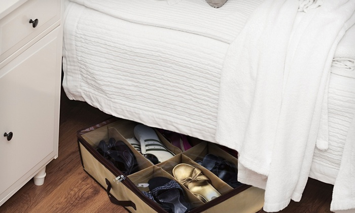Under Bed Space-Saving Shoe Organizer: Under Bed Space-Saving Shoe Organizer. Free Returns.