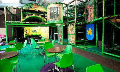 Play Session with a Safari Jungle Box for Up to Three children and One Adult at Jungle Jim's Playland (Up to 52% Off)