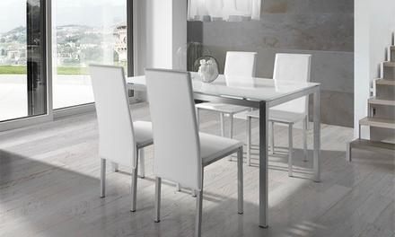 Mesa y 4 sillas de sal n groupon goods for 33 fingers salon groupon