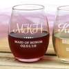 Bridesmaids Stemless Wine Glasses (1-, 2-, 3-, or 4-Pack)