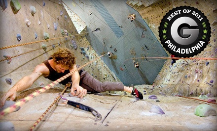 Introduction to Climbing Package for 1 Person (a $45 value) - Philadelphia Rock Gyms in Oaks