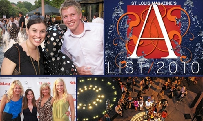 St. Louis Magazine - Central West End: $22 for a General-Admission Ticket to St. Louis Magazine's A-List Party on Thursday, July 15, at 7:30 p.m.