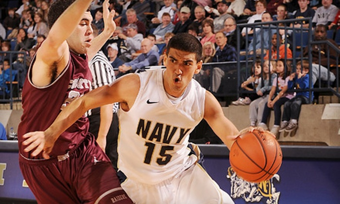 $15 for Outing for Two to U.S. Naval Academy Basketball in Annapolis (Up to $30 Value). Five Options Available.