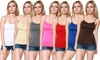 10-Pack of Women's Long Seamless Camisoles