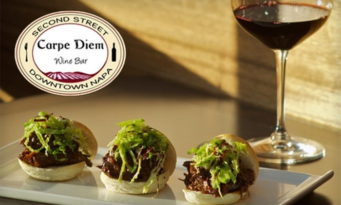 Carpe Diem Wine Bar - Cental Napa: $10 for $20 Worth of Wine and California Cuisine at Carpe Diem Wine Bar