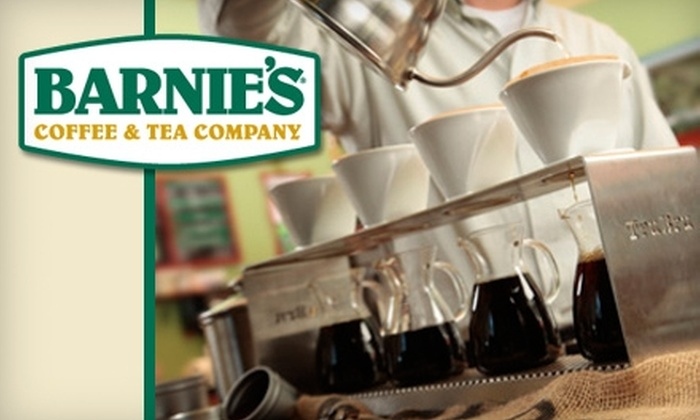 Barnie's Coffee & Tea Company - Multiple Locations: $15 for 2 Pounds of Premium and a Personal-Brew Coffee at Barnie's Coffee & Tea Company ($32.48 Value)