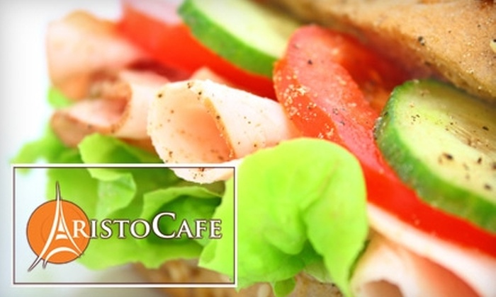 Aristo Cafe - Downtown: $10 for $20 Worth of European-Inspired Sandwiches at Aristo Cafe