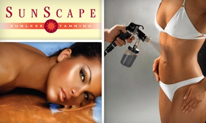 SunScape Sunless Tanning - Wichita: $15 for Two Full-Body Sunless Spray Tans at SunScape Sunless Tanning ($60 Value)