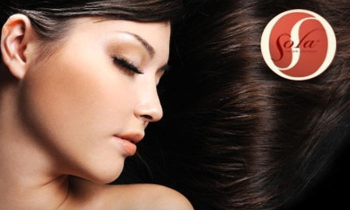 Sola Salon Studios - Cascade: $99 for an Organic Keratin Treatment at Sola Salon Studios ($250 Value)