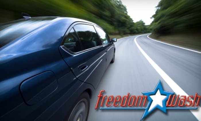 Freedom Wash - Multiple Locations: $9 For $30 Worth of Car Washes at Freedom Wash