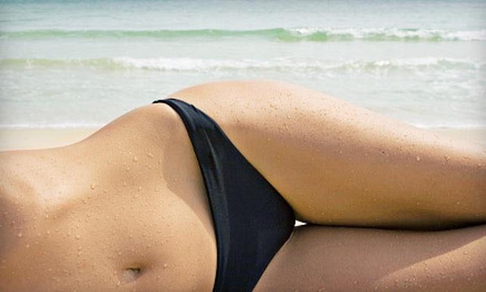 Tonya at Enhance MyBeauty Skin & Body Care - Convention Center: One Brazilian Bikini Wax or One Year of Unlimited Brazilian Bikini Waxes at Ageless Zone (Up to 54% Off)
