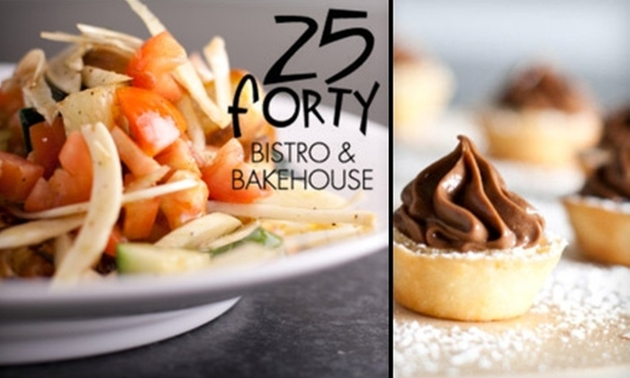 25 Forty Bistro and Bakehouse - Old Town: $18 for $40 Worth of New American Fare at 25 Forty Bistro and Bakehouse